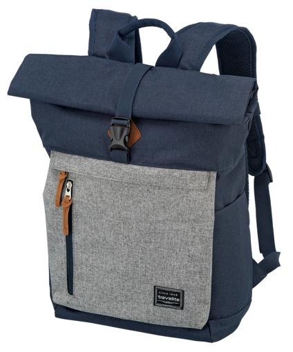Obrázek z Travelite Basics Roll-up Backpack Navy/Grey 35 l