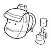 Obrázek z Reisenthel Backpack Kids Abc friends pink 5 l