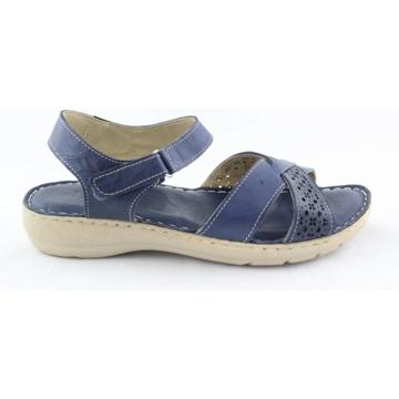Obrázek Wild 016785B.01 Navy Dámské celokožené sandály