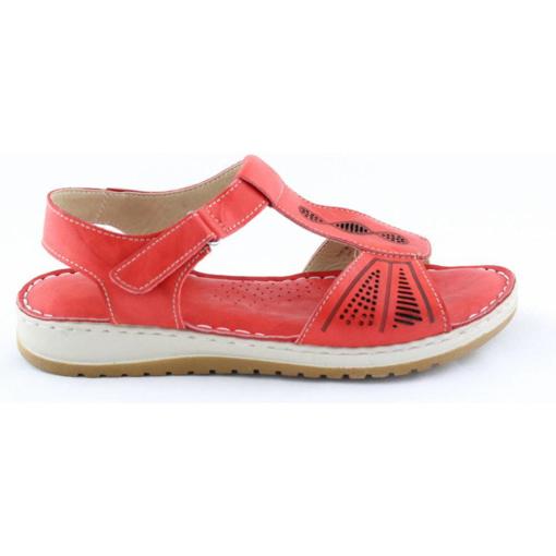 Obrázek z Wild 016835A.01 Red Dámské celokožené sandály