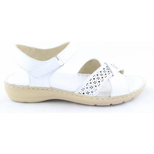 Obrázek z Wild 016785B.01 White Dámské celokožené sandály
