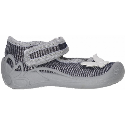 Obrázek z 3F 1F2/3 Dětská domácí obuv stříbrná