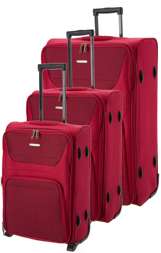 Obrázek z Cestovní kufry set 3ks BHPC Travel S,M,L BH-237-02 červená 178 L