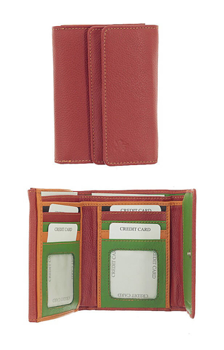 Obrázek z Peněženka Carraro Multicolour 833-MU-02 červená