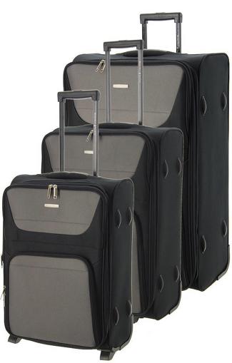 Obrázek z Cestovní kufry set 3ks BHPC Travel S,M,L BH-237-01 modrá 178 L