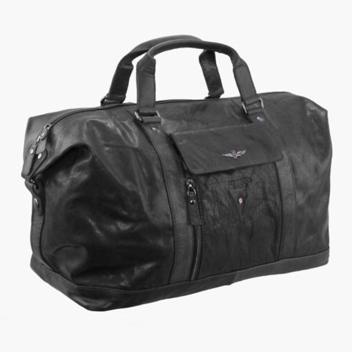 Obrázek z Cestovní taška Aeronautica Militare Vintage AM-306-01 černá 26 L
