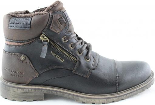 Obrázek z Tom Tailor 9082302 Pánské kotníkové boty černé