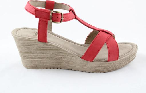 Obrázek z Bata W2693e54 Dámské sandály na klínku červené