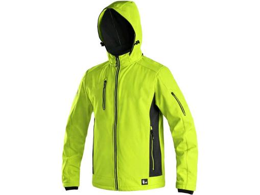 Obrázek z CXS DURHAM Pánská softshellová bunda žluto-černá
