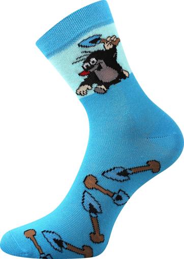 Obrázek z BOMA ponožky Krtek mix 2 / kluk-lopatka 1 pár