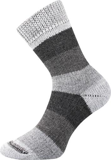 Obrázek z BOMA ponožky Spací ponožky - PRUH pruhy 02/šedá 1 pár