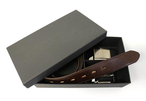Obrázek z PENNY BELTS SET 506 35-020-22 A 4PS Pánský kožený opasek hnědý
