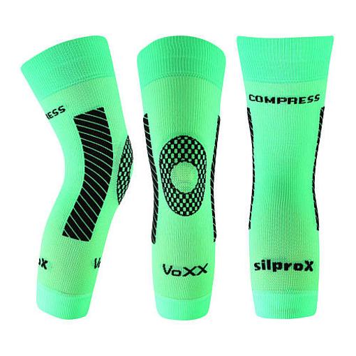 Obrázek z VOXX kompresní návlek Protect koleno neon zelená 1 ks