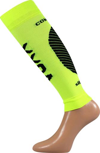 Obrázek z VOXX kompresní návlek Protect lýtko neon žlutá 1 pár