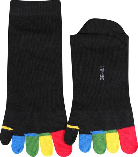 Obrázek z BOMA ponožky Prstan-a 05 barevné prsty 1 pár