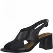 Obrázek z Tamaris 1-28357-26 903 Dámské sandály na podpatku černé