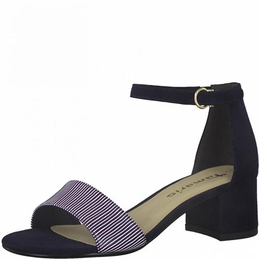 Obrázek z Tamaris 1-28201-26 890 Dámské sandály na podpatku modré