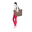 Obrázek z Reisenthel Shopper XL Glencheck Red 35 L