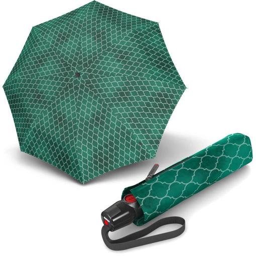Obrázek z Knirps T.200 Medium Duomatic Regenerate Green Dámský plně automatický deštník