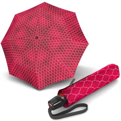 Obrázek z Knirps T.200 Medium Duomatic Regenerate Red Dámský plně automatický deštník