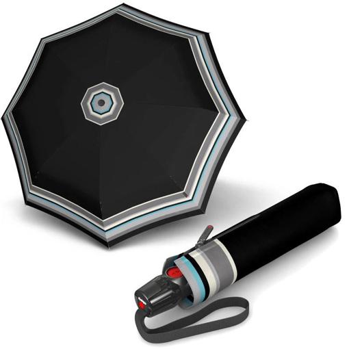 Obrázek z Knirps T.200 Medium Duomatic Grace Black Dámský plně automatický deštník