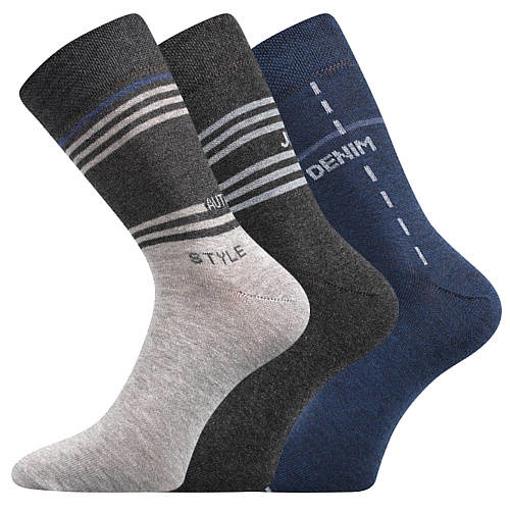 Obrázek z BOMA ponožky Kuba mix II/nápisy 3 pár