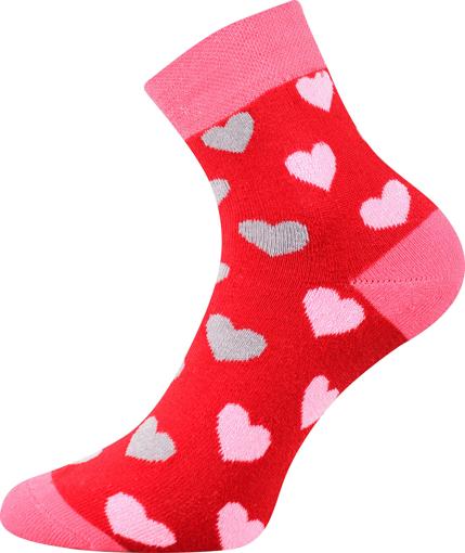 Obrázek z BOMA ponožky Pruhana 15 srdíčka 1 pár