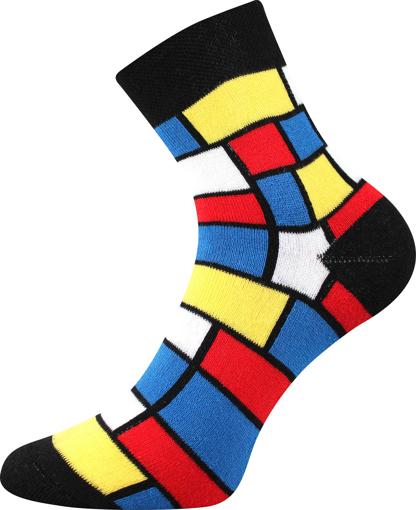 Obrázek z BOMA ponožky Pruhana 15 modrian 1 pár