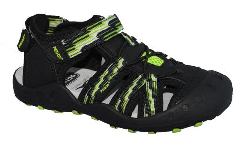 Obrázek z Peddy P6-512-26-01 Dětské sandály černé