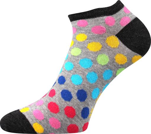 Obrázek z BOMA ponožky Piki 65 mix B/světle šedá melé 1 pár