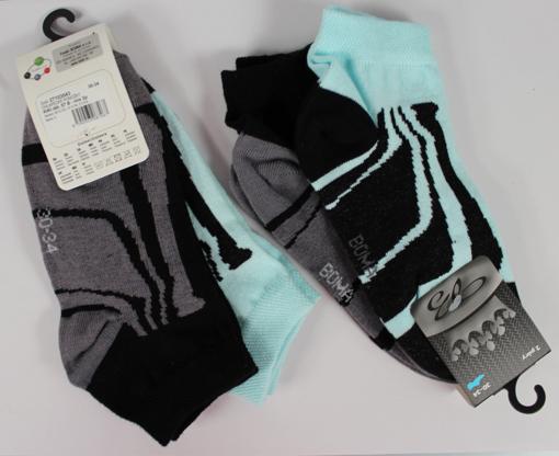 Obrázek z BOMA ponožky KIKI dět. 07 2pár mix / mátová + černá 10 pack