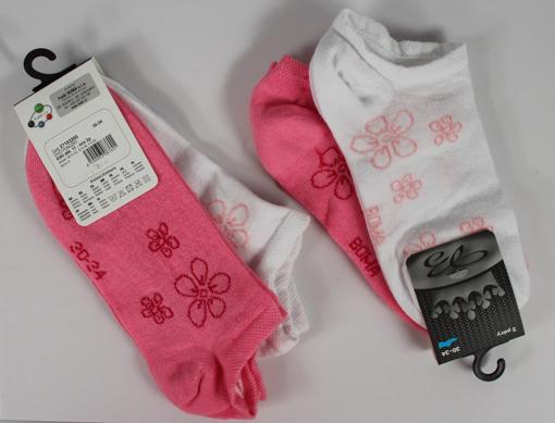 Obrázek z BOMA ponožky KIKI dět. 11 2pár mix / bílá + magenta 10 pack