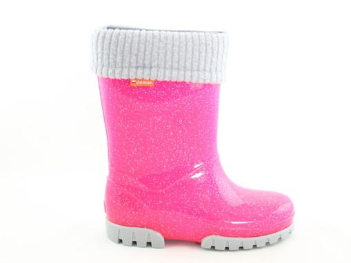 Obrázek z Demar STORMER LUX 0406 G růžové Dětské zateplené holínky