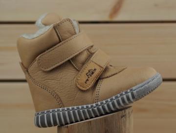 Obrázek Pegres 1706 Bosé Dětské zimní boty pískové